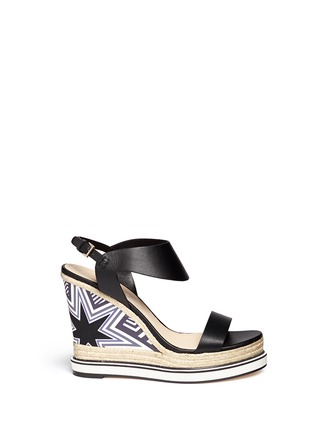 Main View - Click To Enlarge - Nicholas Kirkwood - Star heel espadrille wedge sandals