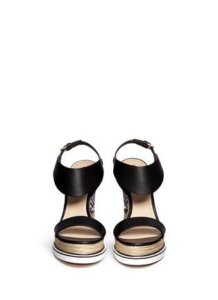 Figure View - Click To Enlarge - Nicholas Kirkwood - Star heel espadrille wedge sandals