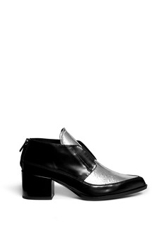 MCQ ALEXANDER MCQUEEN 'Misty' metallic foil leather booties
