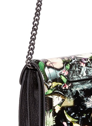 Detail View - Click To Enlarge - McQ Alexander McQueen - Festive floral patent leather clutch