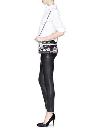 - McQ Alexander McQueen - Festive floral patent leather clutch