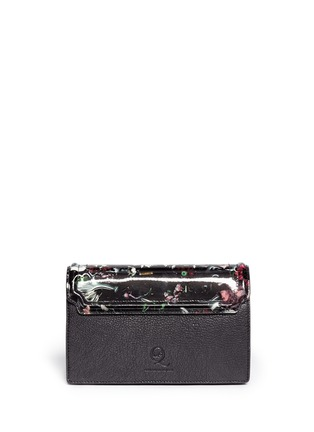 Back View - Click To Enlarge - McQ Alexander McQueen - Festive floral patent leather clutch