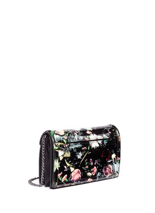Front View - Click To Enlarge - McQ Alexander McQueen - Festive floral patent leather clutch