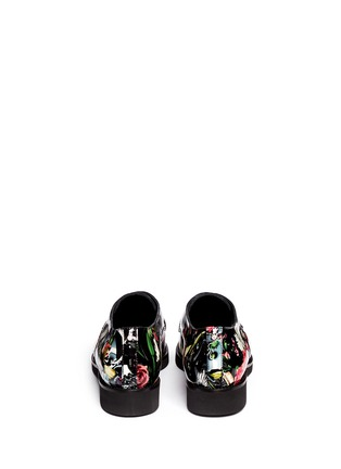 Back View - Click To Enlarge - MC Q SHOES - 'Kim' floral print patent leather Derbies