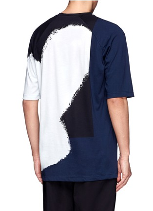 Back View - Click To Enlarge - 3.1 Phillip Lim - Colourblock paint print cotton T-shirt