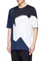 Colourblock paint print cotton T-shirt