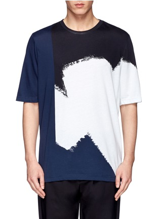 Main View - Click To Enlarge - 3.1 Phillip Lim - Colourblock paint print cotton T-shirt