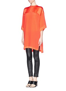 GIVENCHY Oversized satin trim crepe T-shirt dress