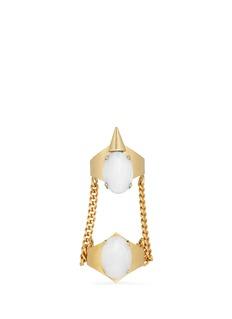 ELA STONE'Marla' chain link double stone ring