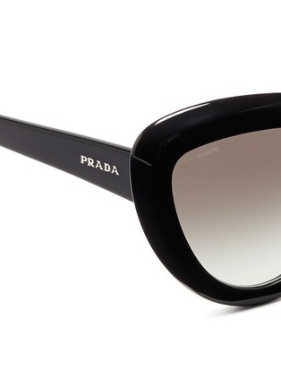 Detail View - Click To Enlarge - Prada - Cat eye acetate sunglasses