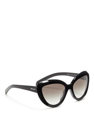Figure View - Click To Enlarge - Prada - Cat eye acetate sunglasses