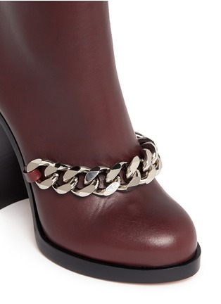 Detail View - Click To Enlarge - Givenchy - Chain leather ankle boots