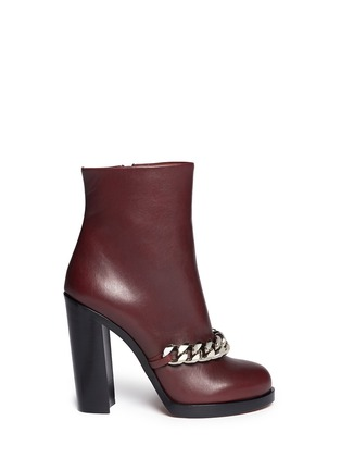 Main View - Click To Enlarge - Givenchy - Chain leather ankle boots