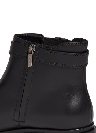 Detail View - Click To Enlarge - SERGIO ROSSI - Leather biker Chelsea boots