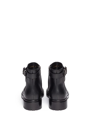 Back View - Click To Enlarge - SERGIO ROSSI - Leather biker Chelsea boots
