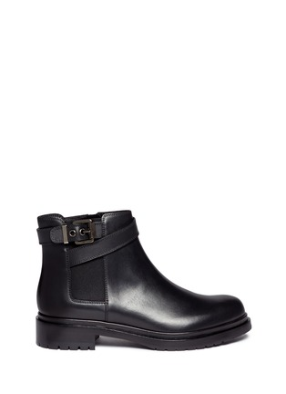 Main View - Click To Enlarge - SERGIO ROSSI - Leather biker Chelsea boots