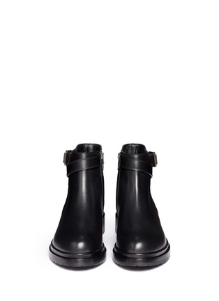 Figure View - Click To Enlarge - SERGIO ROSSI - Leather biker Chelsea boots
