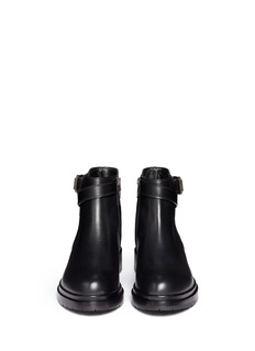 SERGIO ROSSILeather biker Chelsea boots