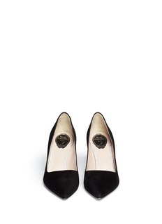 RENÉ CAOVILLA Point toe suede pump