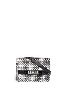 PROENZA SCHOULERPS11 mini tweed print leather bag