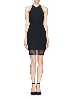 ELIZABETH AND JAMES Mesh panel dress