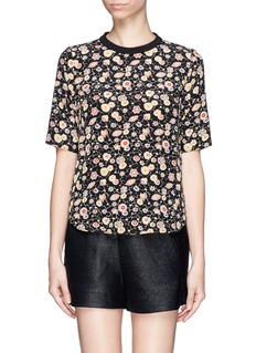 ELIZABETH AND JAMES 'Floral Piper' print silk top