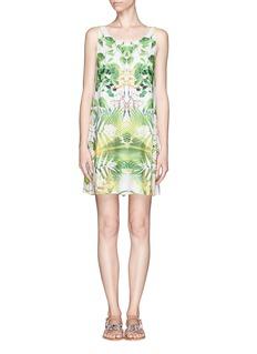 ALICE + OLIVIATrina sunburst balm print open back dress