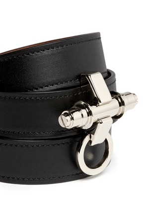Detail View - Click To Enlarge - Givenchy - Obsedia triple wrap leather bracelet