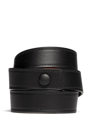 Back View - Click To Enlarge - Givenchy - Obsedia triple wrap leather bracelet