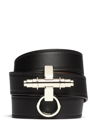 Main View - Click To Enlarge - Givenchy - Obsedia triple wrap leather bracelet