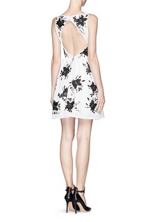 ALICE + OLIVIA Lillyanne silk embellished puff skirt dress