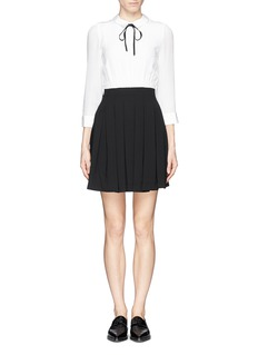 ALICE + OLIVIA Neck tie box pleat dress