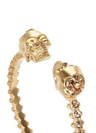 Detail View - Click To Enlarge - Alexander McQueen - Double skull crystal bangle
