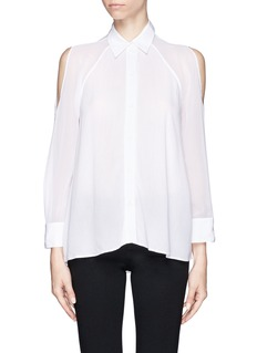 ALICE + OLIVIAGibson sheer open shoulder blouse