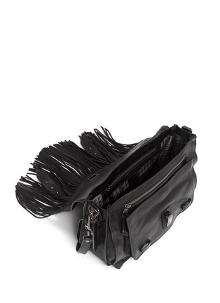 Detail View - Click To Enlarge - Proenza Schouler - 'PS1' medium fringe leather satchel