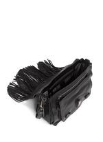 'PS1' medium fringe leather satchel