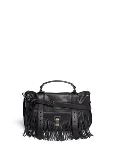 PROENZA SCHOULERPS1 medium fringe leather satchel