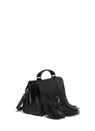 Figure View - Click To Enlarge - Proenza Schouler - 'PS1' medium fringe leather satchel