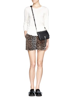 ELIZABETH AND JAMES 'Alistaire' leopard print shorts