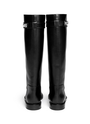 Back View - Click To Enlarge - Givenchy - Shark tooth turn lock leather riding boots
