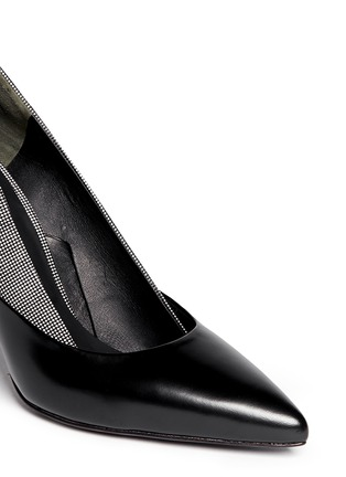 Detail View - Click To Enlarge - Alexander Wang  - 'Cicely' textured dot leather pumps