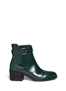 ALEXANDER WANG 'Martine' leather buckle Chelsea boots