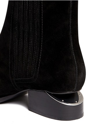 Detail View - Click To Enlarge - Alexander Wang  - 'Anouck' cutout heel suede Chelsea boots