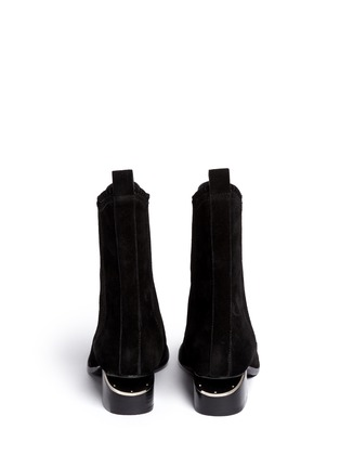 Back View - Click To Enlarge - Alexander Wang  - 'Anouck' cutout heel suede Chelsea boots