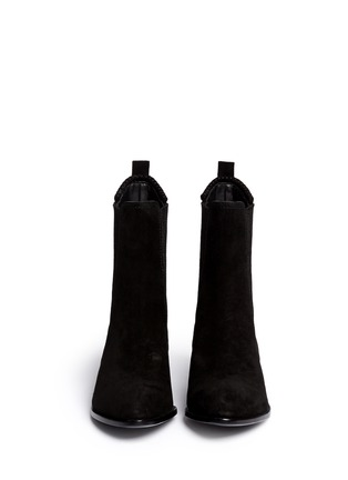 Figure View - Click To Enlarge - Alexander Wang  - 'Anouck' cutout heel suede Chelsea boots