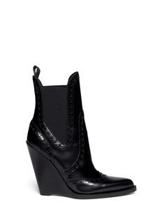 ALEXANDER WANG Nadja' wingtip leather Chelsea wedge boots