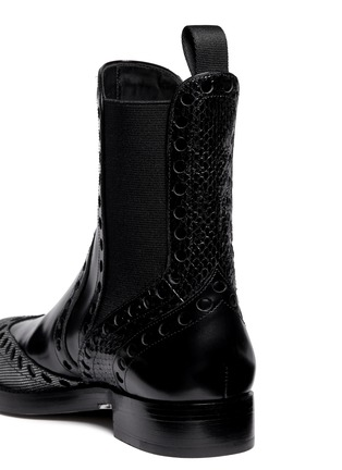 Detail View - Click To Enlarge - Alexander Wang  - Nicole' wingtip perforated leather Chelsea boots