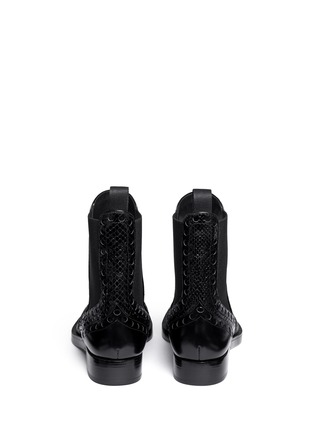Back View - Click To Enlarge - Alexander Wang  - Nicole' wingtip perforated leather Chelsea boots