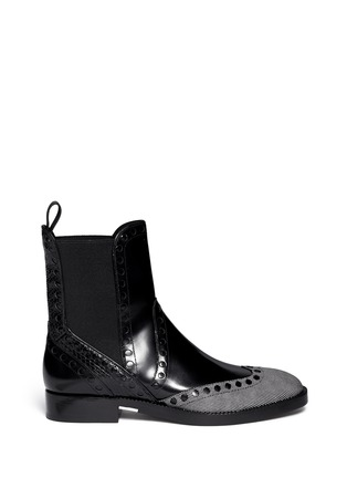 Main View - Click To Enlarge - Alexander Wang  - Nicole' wingtip perforated leather Chelsea boots