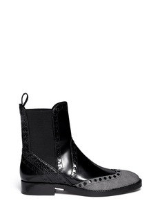 ALEXANDER WANG  Nicole' wingtip perforated leather Chelsea boots